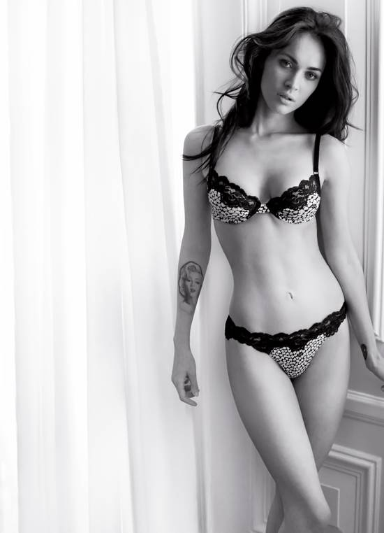 megan fox armani photoshoot. Megan Fox Underwear Photoshoot