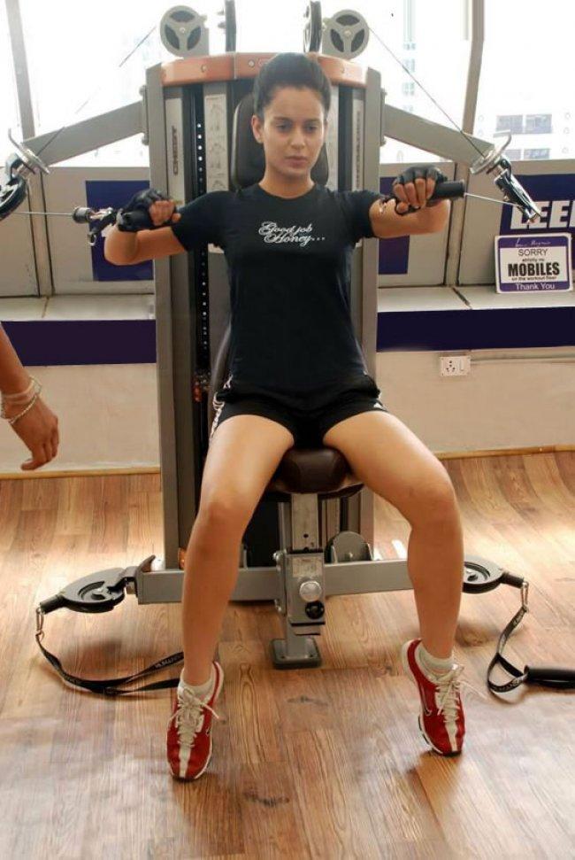 kangana-Ranaut in Gym