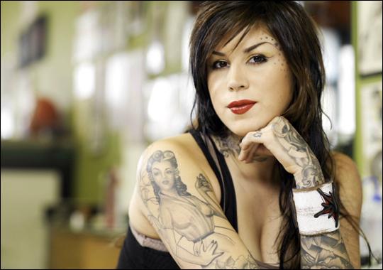 kat von d tattoo. American tattoo artist Kat Von